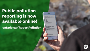 Ontario Making it Easier to Report Polluters