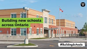 Ontario Invests $550 Million to Build and Upgrade Schools