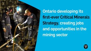 Ontario Developing First-Ever Critical Minerals Strategy