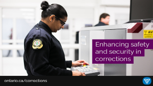 Ontario Enhances Security at Adult Correctional Facilities