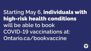 Ontario Expands COVID-19 Vaccination Booking for More People