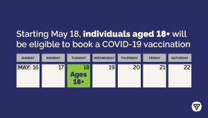 COVID-19 Vaccine Booking Expanding to Ontarians 18+ Ahead of Schedule