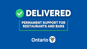 Ontario Permanently Allowing Alcohol with Food Takeout and Delivery
