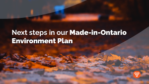 Province Marks Second Anniversary of Made-in-Ontario Environment Plan