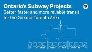Ottawa Joins Ontario in Making Historic Investments in Greater Toronto Area Transit