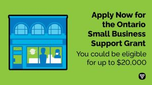 Applications Now Open for Ontario's Small Business Support Grant