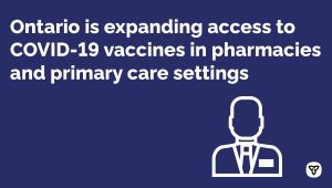 Ontario Pharmacies and Primary Care Settings to Begin Offering COVID-19 Vaccinations