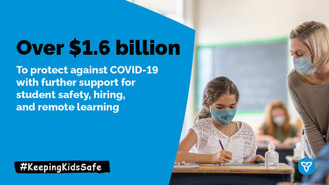 Ontario Unveils $2 Billion Plan to Keep Schools Safe and Support Learning Recovery and Renewal