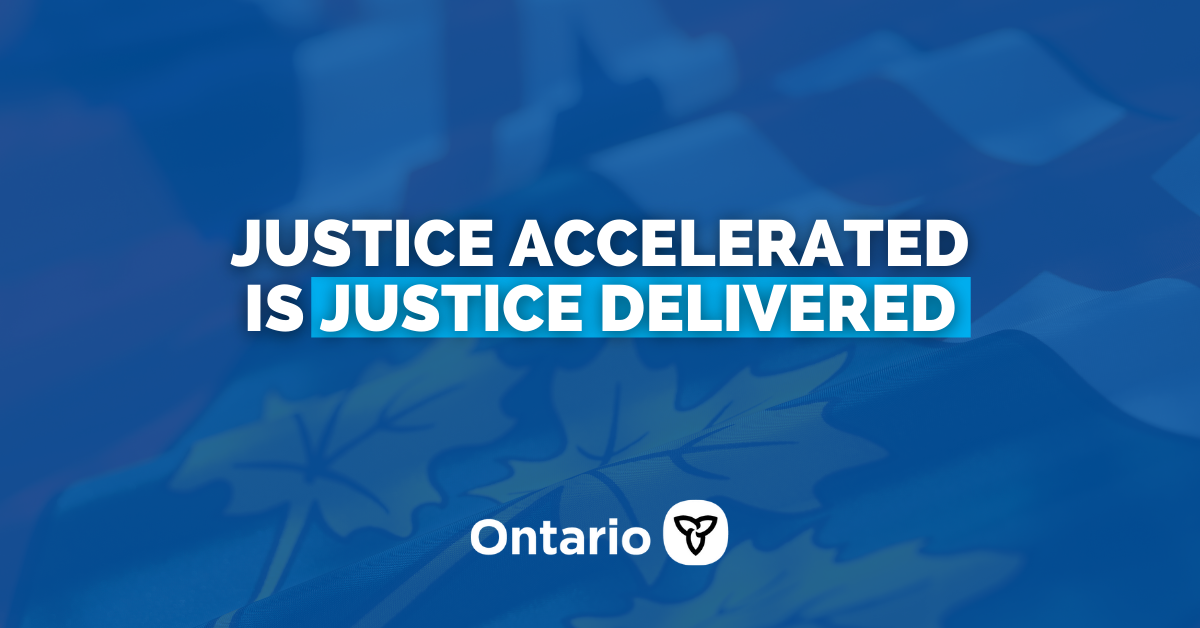 Ontario Improving Access to the Justice System