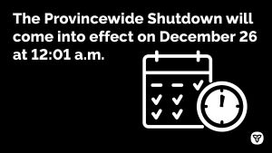Ontario Announces Provincewide Shutdown to Stop Spread of COVID-19 and Save Lives