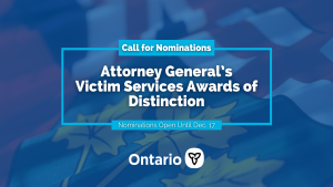 Attorney General's Victim Services Awards of Distinction - Call for Nominations