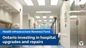 Ontario Investing in Hospital Upgrades and Repairs
