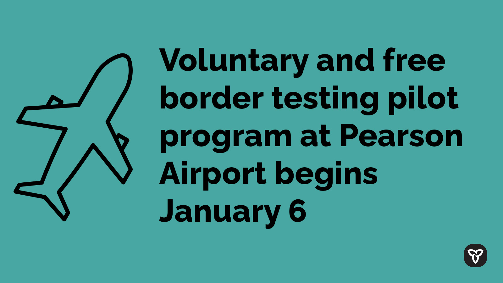 Ontario Launches Innovative Testing Program at Pearson Airport