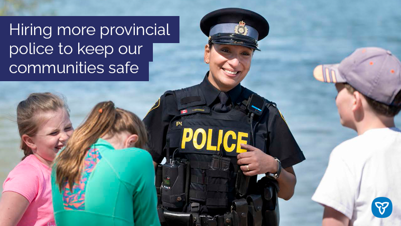 Ontario Adding 200 New Provincial Police Officers