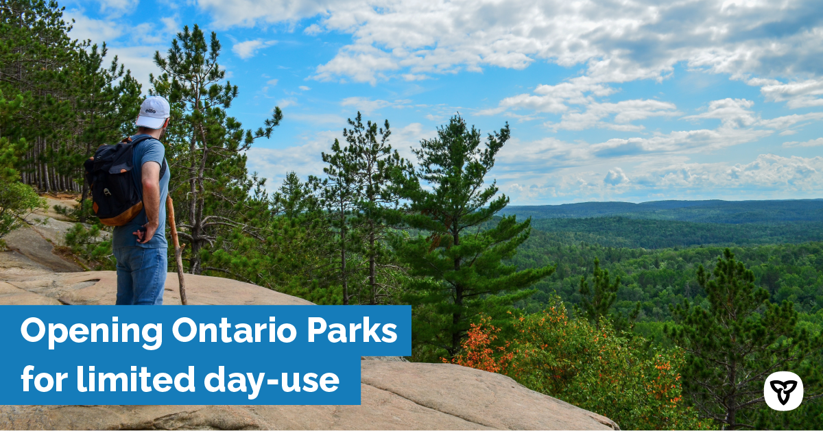 Ontario Opening Provincial Parks and Conservation Reserves