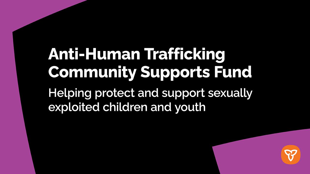 Ontario Marks World Day Against Trafficking in Persons